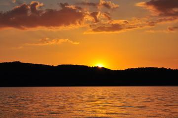 Sonnenuntergang am Bertzdorfer See 7