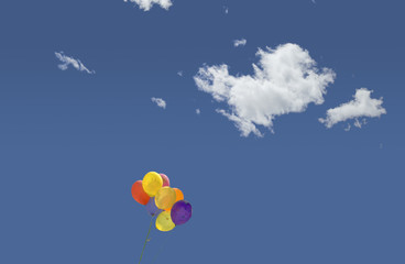 Balloons and clouds