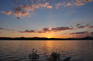 Sonnenuntergang am Bertzdorfer See 10