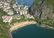 A dramatic cove and beach in Rio De Janeiro