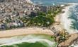 Aerial view of Rio De Janeiro's famous beaches