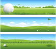 Golf background banners