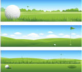 Fototapety Golf background banners