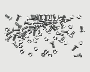 flling nuts and bolts, 3D simulation