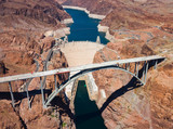 Fototapety Aerial view of Hoover Dam and the Colorado River Bridge