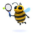 3d Bee plays tennis