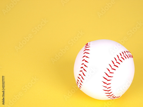 Softball on Yellow