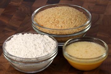breaded ingredients