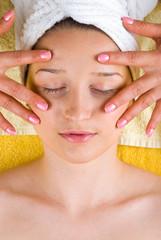 Eyes skin facial massage