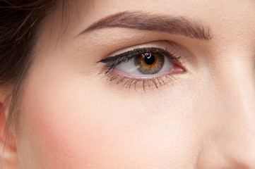 Close up portrait of beauty woman with perfect skin!