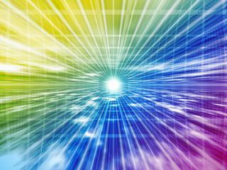 虹色の空間
