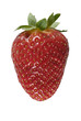 Fresa con fondo blanco