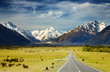 canvas print picture - Southern Alps, New Zealand