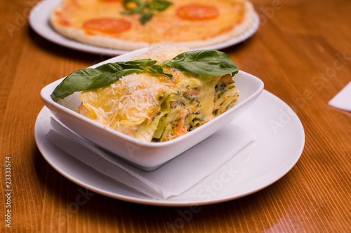 The vegetable lasagna.