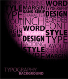 Abstract purple typography background poster