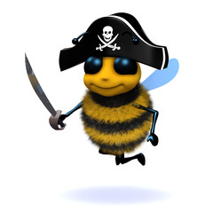 3d Pirate bee