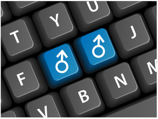 MALE SYMBOLS on Keyboard (gay homosexual orientation sex pride)