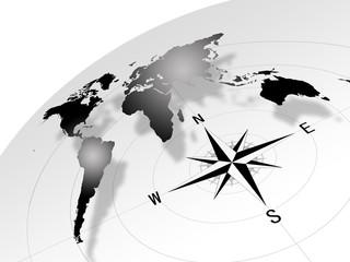 地球と羅針盤