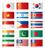 Glossy flags - Asian
