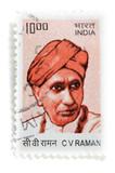 Sir CV Raman stamp poster