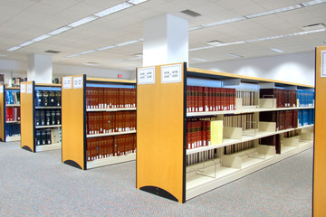 Book shelfs in university library