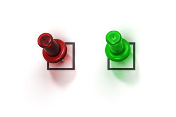 contrôle qualité, valider et refuser cases à cocher, formulaire