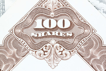 Stock market - old shares certificate