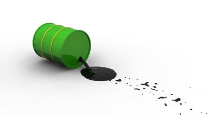 Oil Spill from Barrel