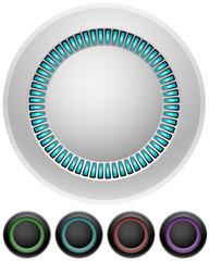 Blank round illumitated buttons