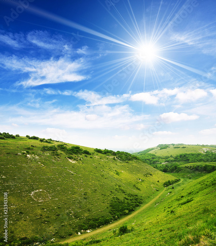 Sunshine countryside