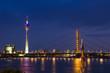 Skyline Düsseldorf bei Nacht