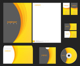 Vector orange-grey identity - Styles collection