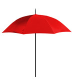 one red umbrella