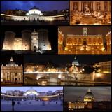 Rome et Naples en nocturne poster