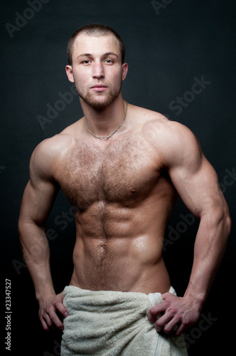 hot muscled model