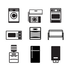 Home electronics and equipment icons - vector icon set