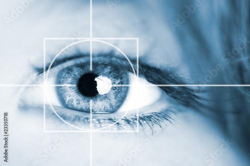 Leinwanddruck Bild Auge - Überwachung