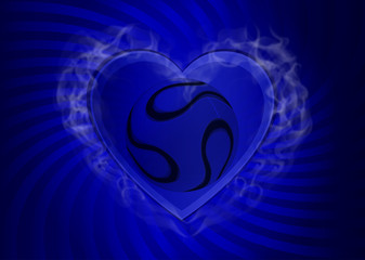 hot heart japan blue