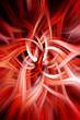 Burning Red Waves. Digital Background