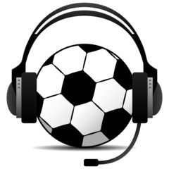Football Soccer Podcast Vector