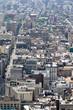 Straßen Stadtszene mit Häusern von New York