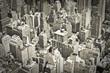 Straßen Stadtszene mit Häusern von New York, vintage