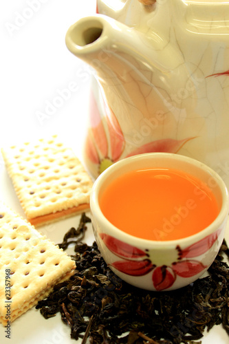 tea pot and biscuit