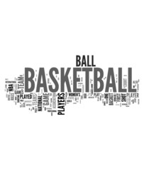 Basketball concepts on white background
