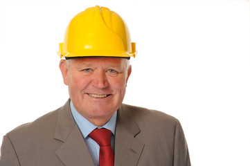 Successful mature businessman or foreman