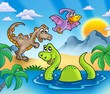 roleta: Landscape with dinosaurs 1