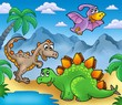 roleta: Landscape with dinosaurs 2