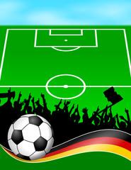 plakat fussball(feld) deutschland XIII