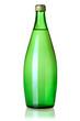 Glass bottle of soda water