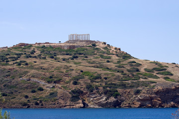 Cape Sounion Temple Distant View